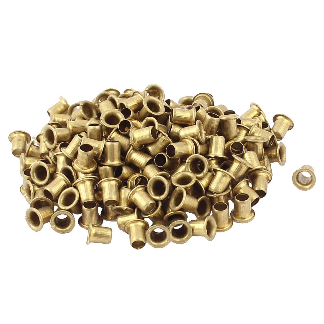 200 Pcs M4*5 copper Tone Eyelet Buttonhole rivet Retainer Ring Button Buckle
