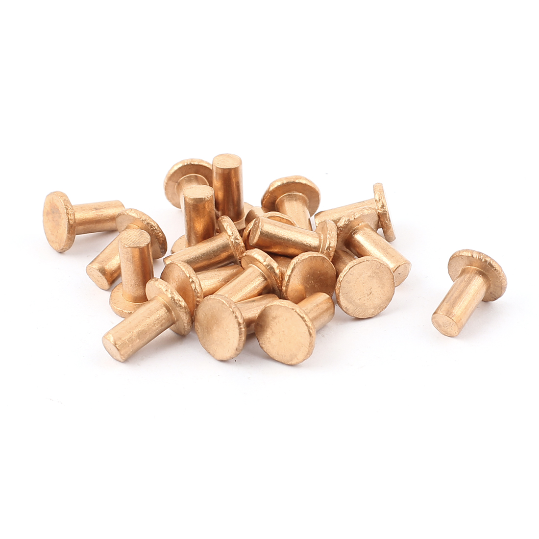 "20 Pcs 15/64"" x 15/32"" Flat Head Copper Solid Rivets Fasteners"