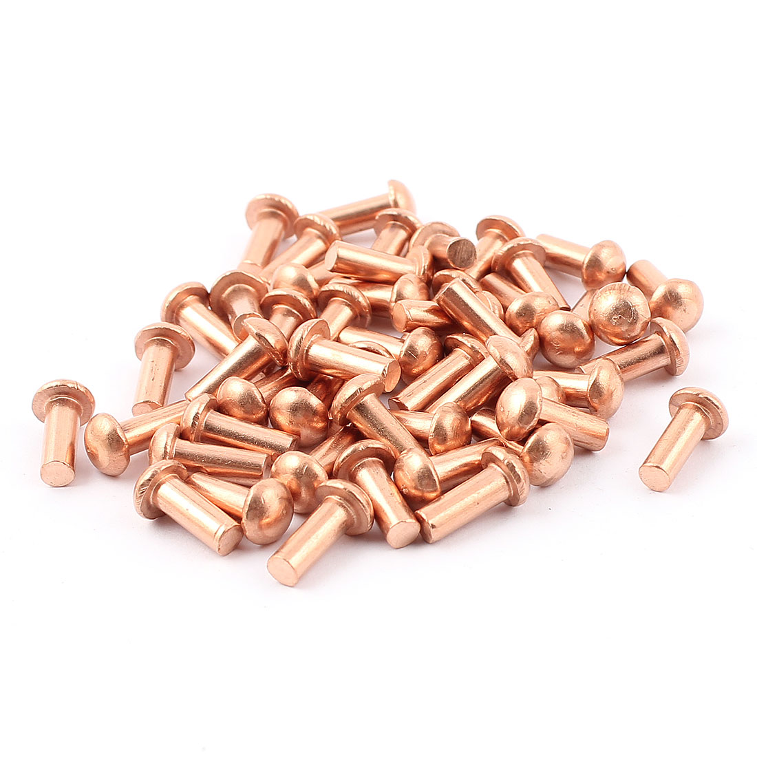 "50 Pcs 5/32"" x 25/64"" Round Head Copper Solid Rivets Fasteners"