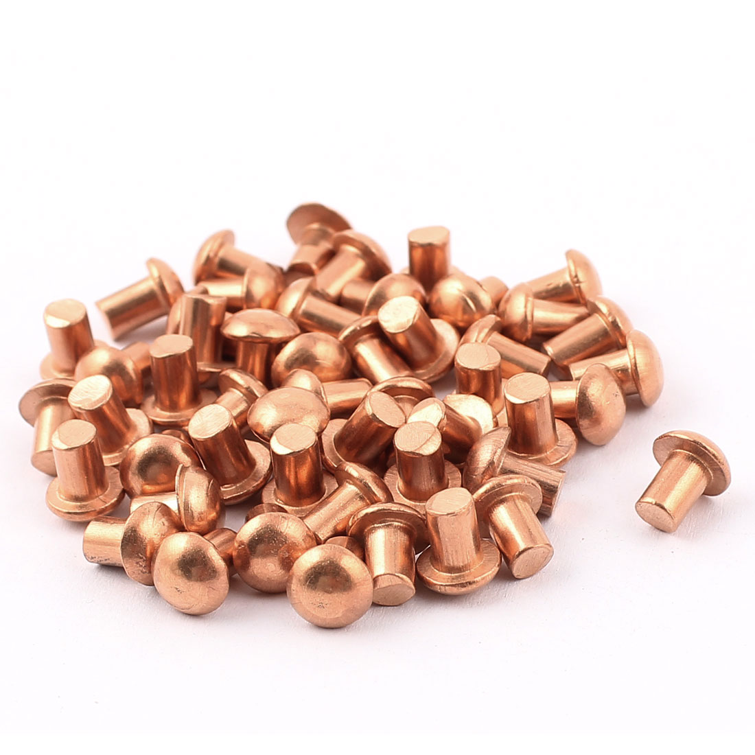 "50 Pcs 5/32"" x 13/64"" Round Head Copper Solid Rivets Fasteners"