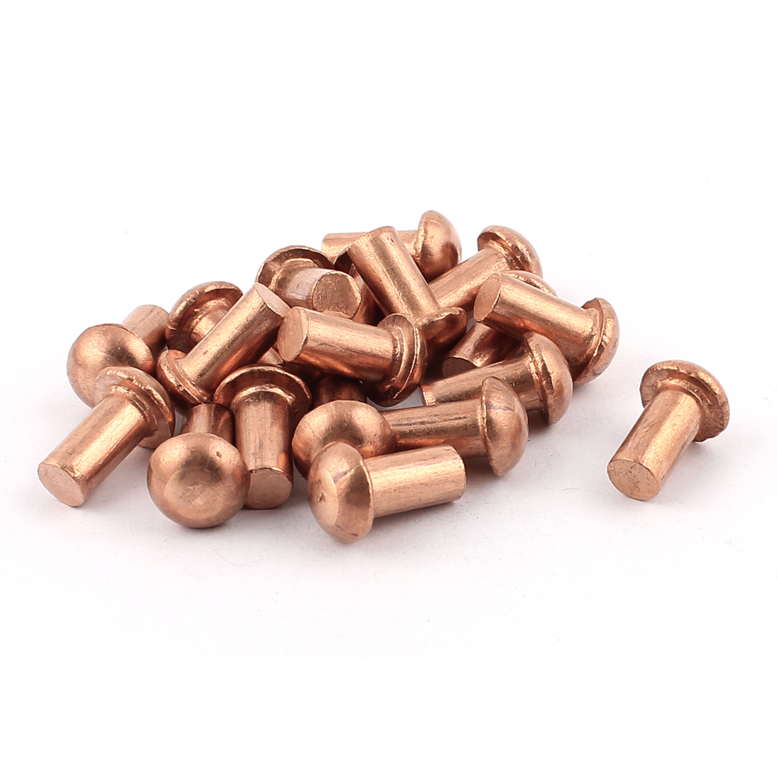 "20 Pcs 5/16"" Diameter 5/8"" L Shank Copper Round Head Solid Rivets Fasteners"