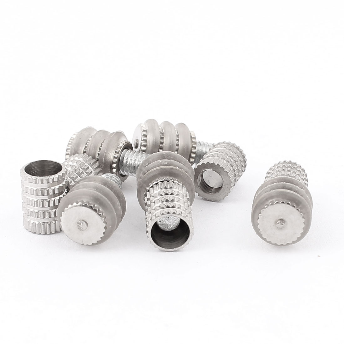 Metal Holder Shelf Support Pin Stud 8mm Screw Dia Silver Tone 5pcs