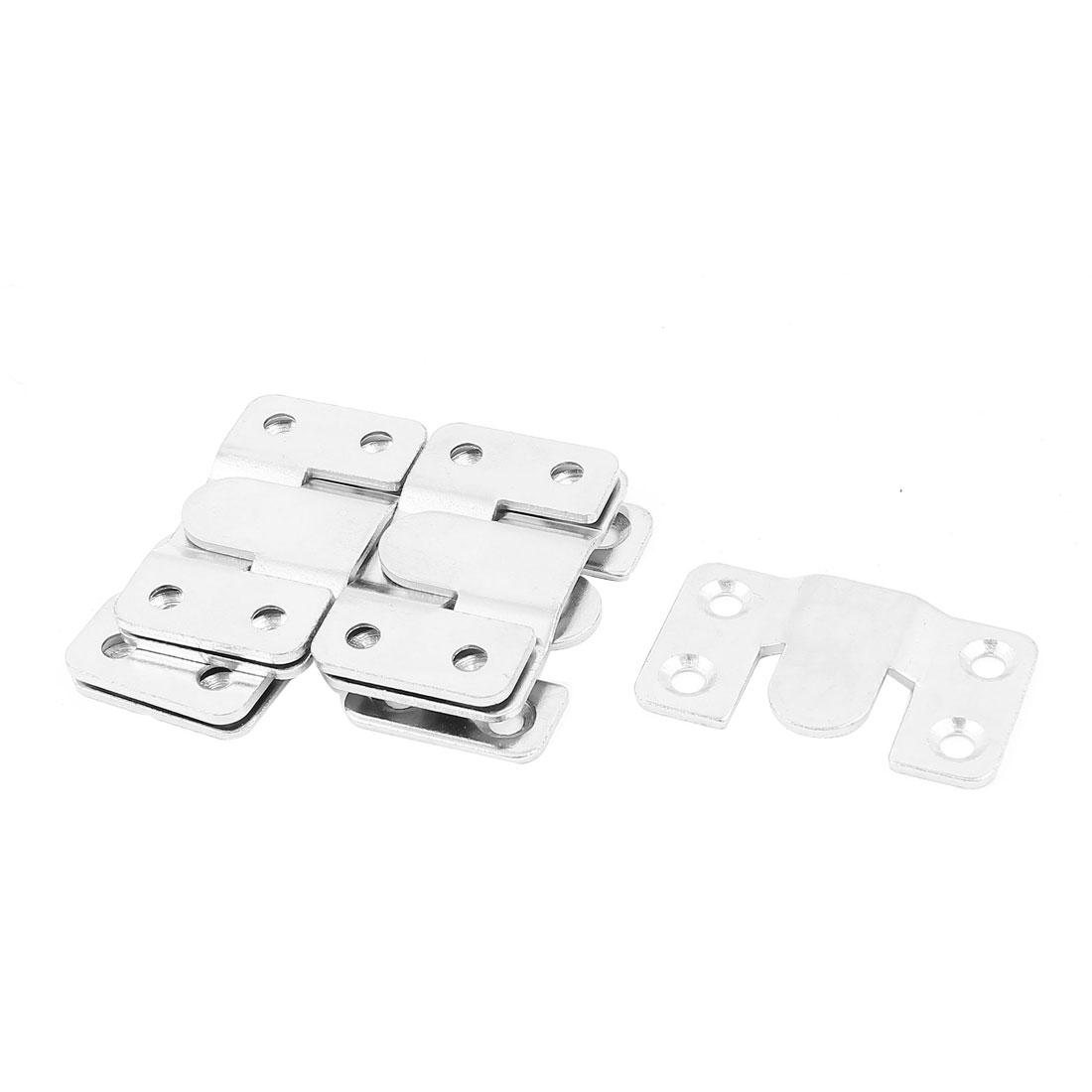 Metal Bed Rail Bracket Fitting Fastener Brass Tone 4 Sets