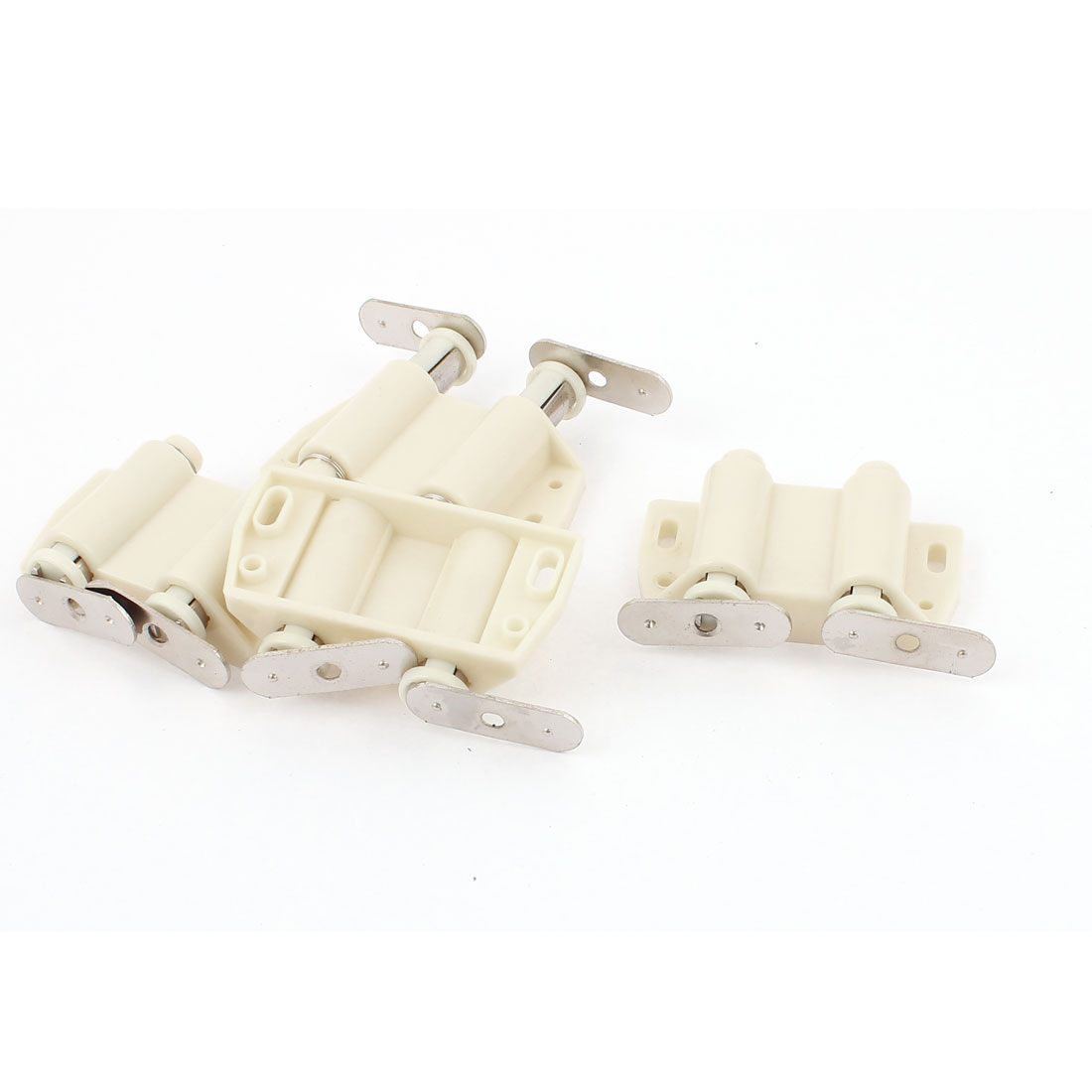 Cabinet Door Push Press Open Double Magnet Catch Latch Beige 4 Sets