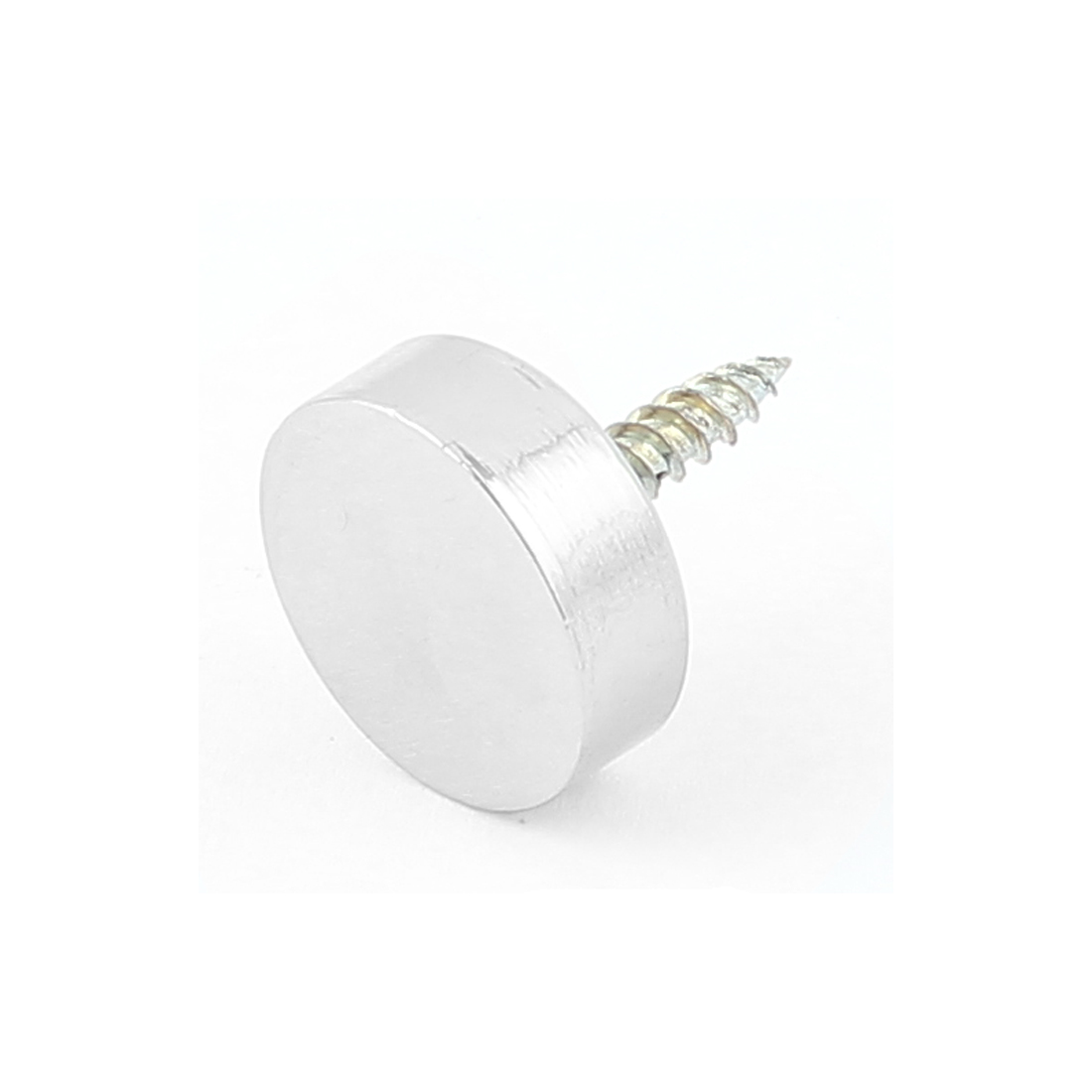 Decoration Wardrobes 19mm Dia Round Cap Screw Mirror Nails Silver Tone