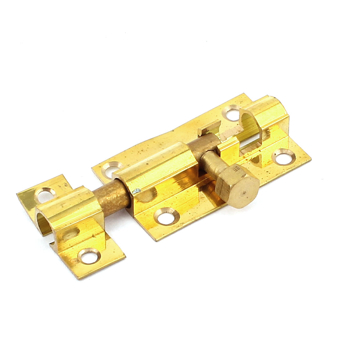 "Door Window Latch Screw in Barrel Bolt Hardware 1.5"" Brass Finish"