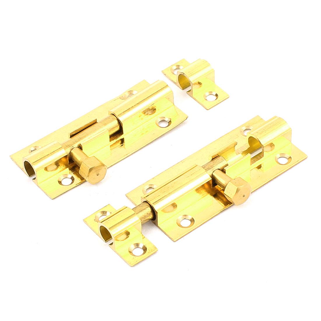 Door Window Latch Solid Brass 2-Inch Barrel Bolt Hardware 2pcs