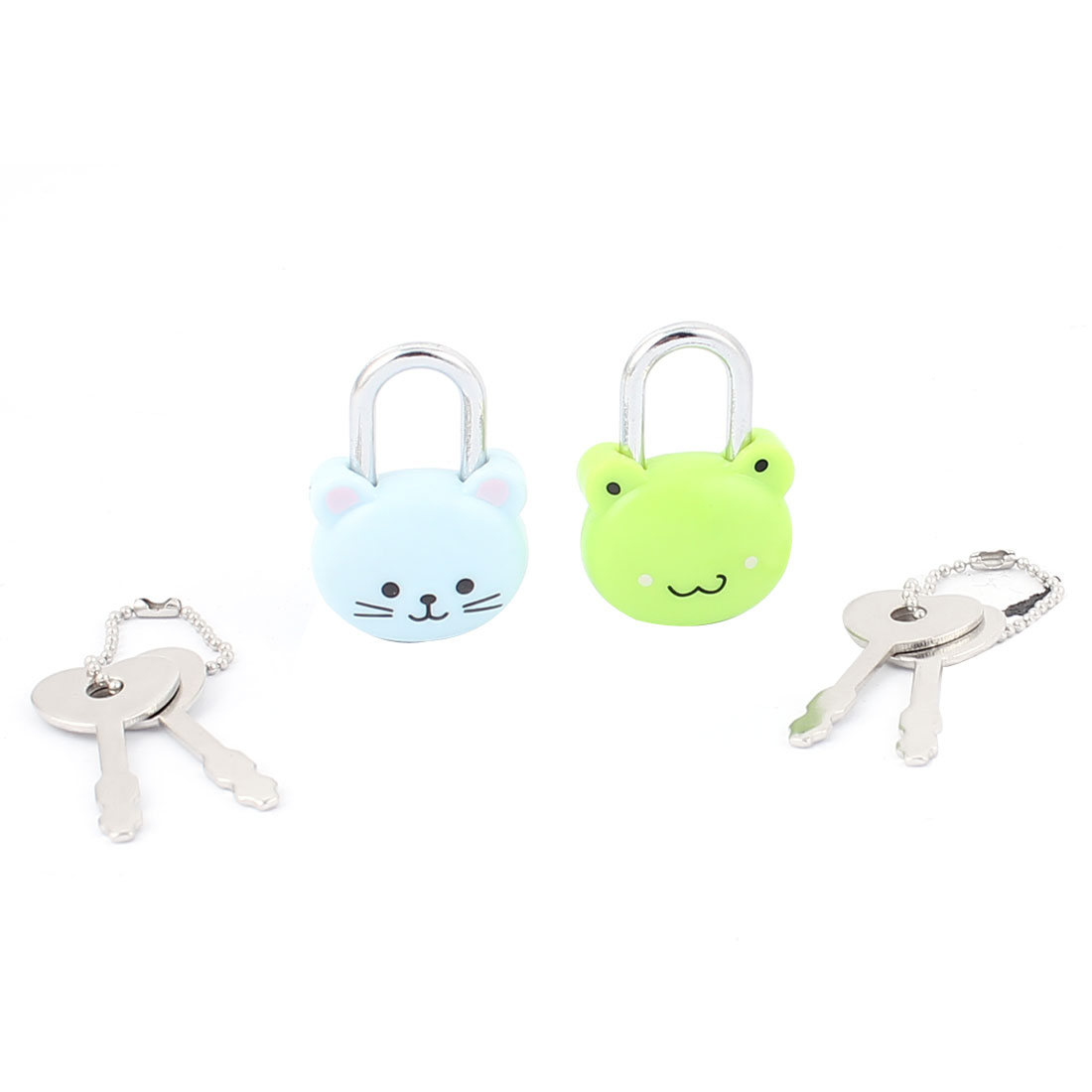 Cabinet Jewlery Drawer Suitcase Cat Frog Head Shape Security Lock Padlock 2Pcs