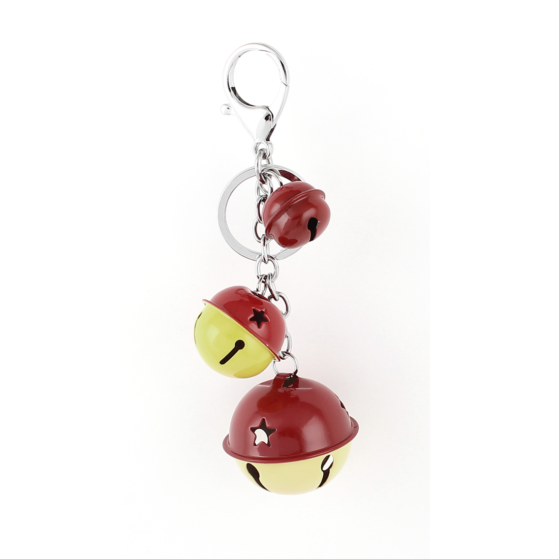 Bells Pendant Swivel Lobster Clasp Keyring Keychain Key Chain Ring Red Yellow