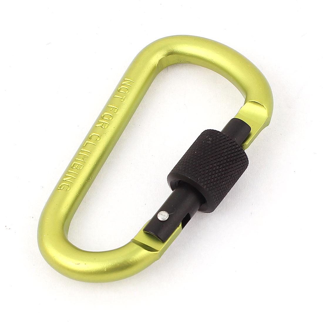 Spring Loaded Screw Locking Snap Carabiner Hook Clip Key Carrier Green
