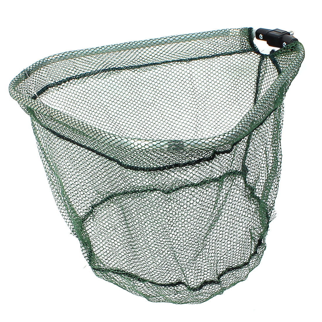 Metal Folding Frame Triangle Fishing Landing Net 31 x 35 x 27cm Green