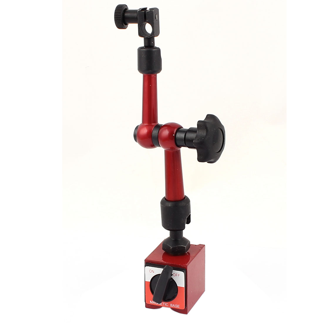 Black Red Magnetic Switch Bass Holder Stand for Dial Test Gauge Indicator