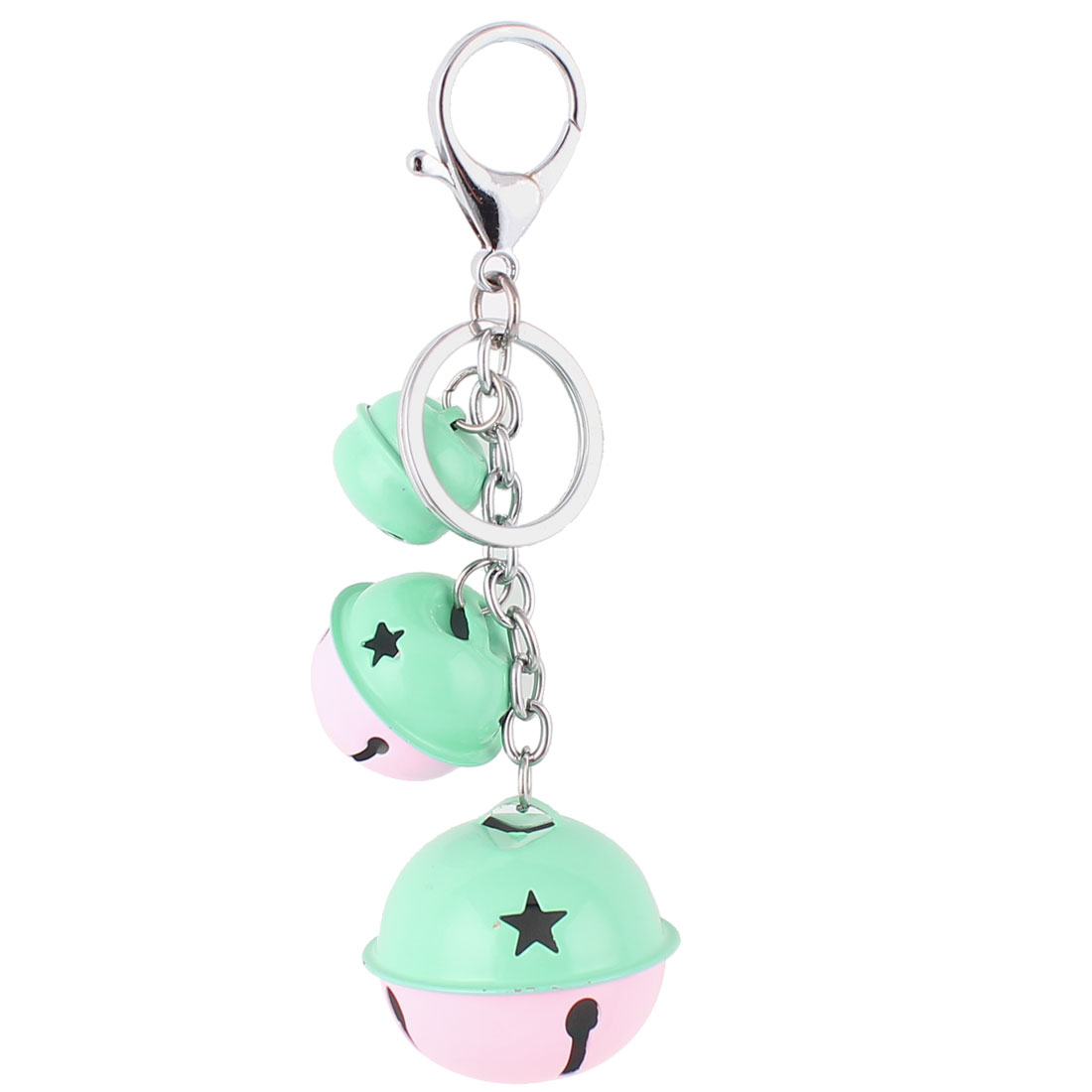 Bells Pendant Swivel Lobster Clasp Keyring Keychain Key Chain Ring Pink Cyan