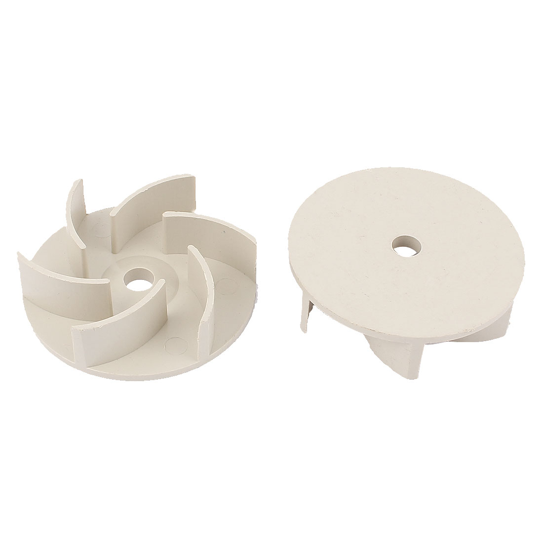 Plastic Impeller Motor Fan 10mm x 84mm x 23mm Gray 2Pcs
