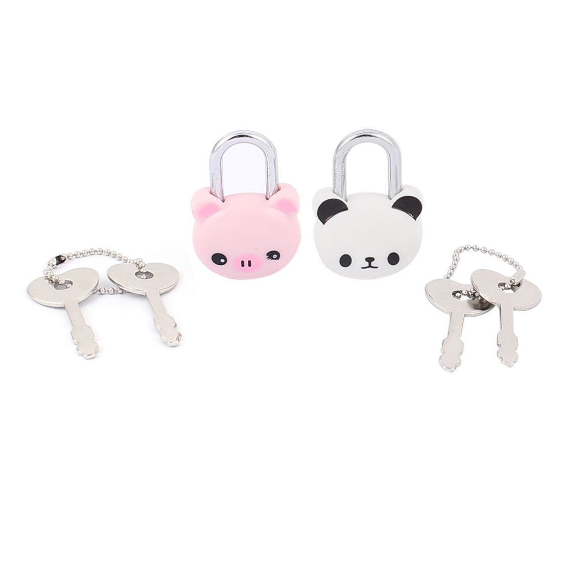 Cabinet Jewlery Drawer Suitcase Panda Pig Head Shape Security Lock Padlock 2Pcs