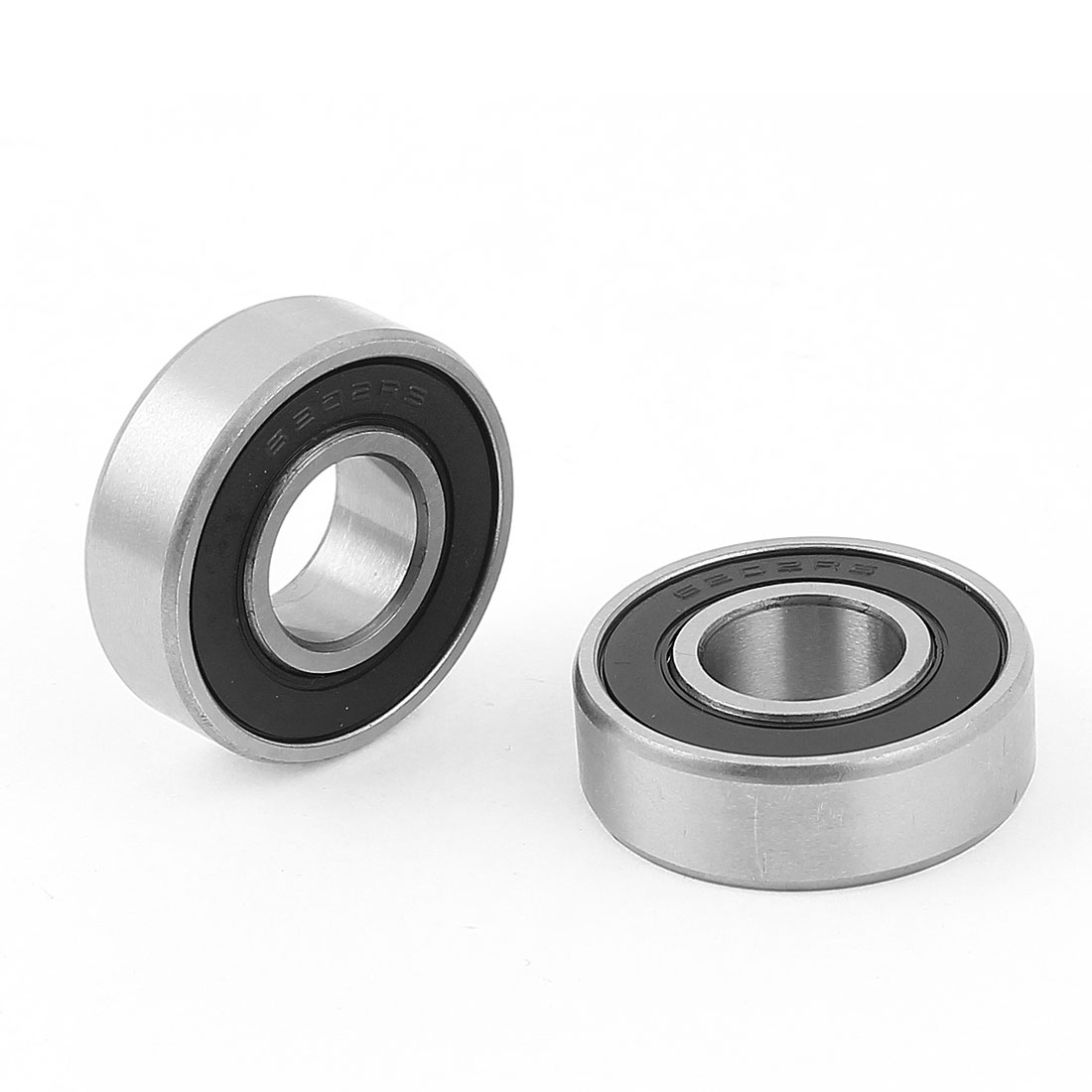 6202RS 15mm x 35mm x 10mm Roller-Skating Sealed Skating Deep Groove Ball Bearing 2Pcs