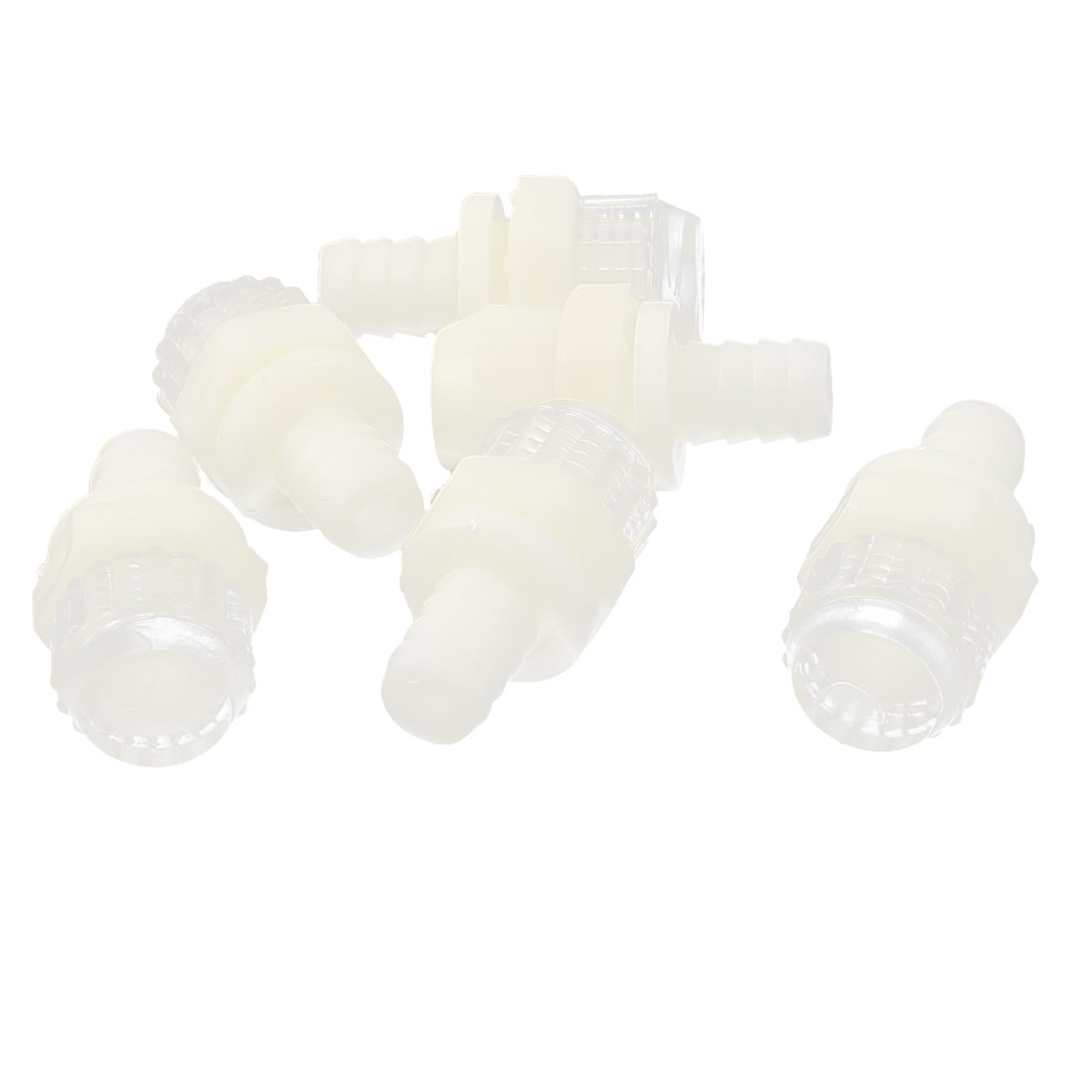 "6Pcs Plastic 9mm 0.35"" Barb Connector Screw End Cap Drain Valve for Water Dispenser"