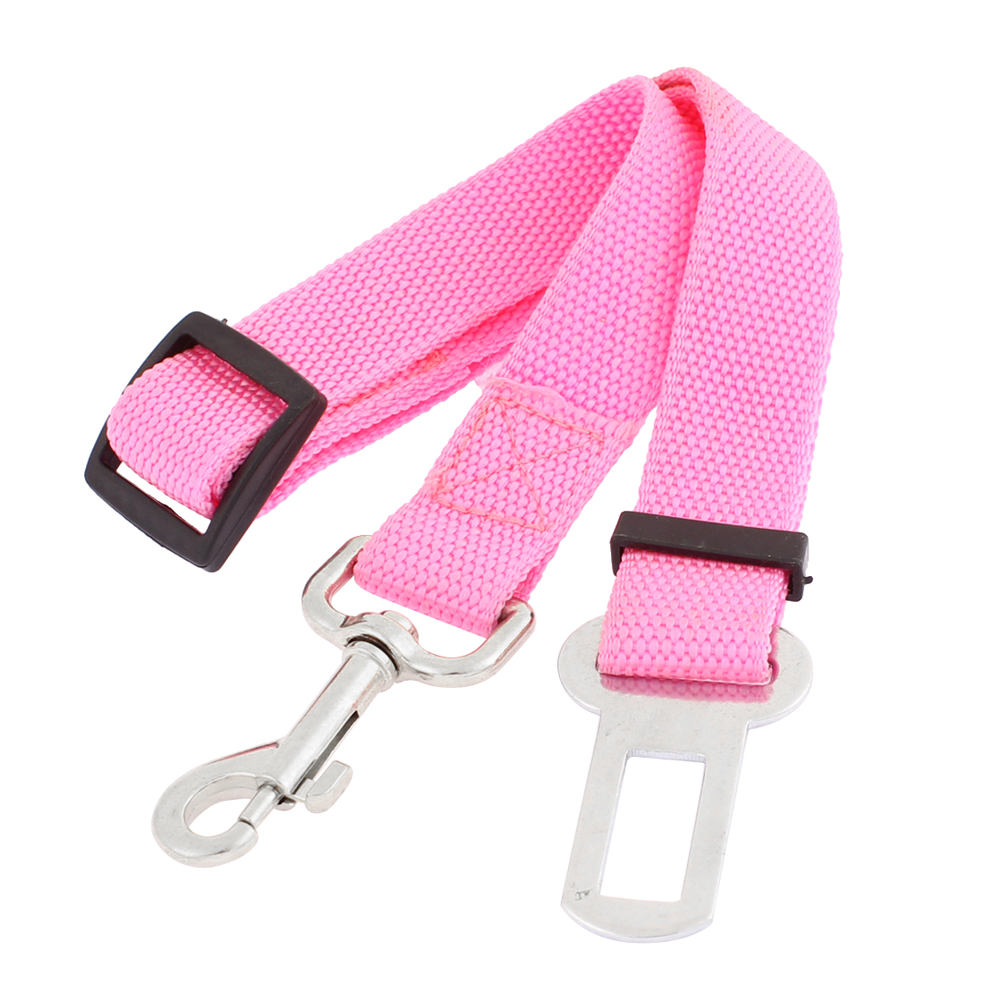 Pet Cat Dog Safety Car Vehicle Seatbelt Adjustable Harness Leash Fuchsia