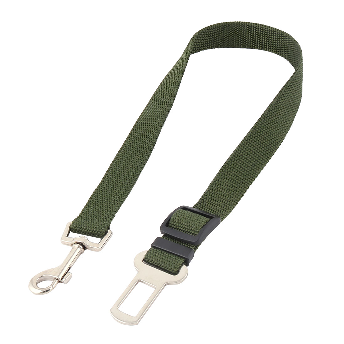 Pet Cat Dog Safety Car Vehicle Seatbelt Adjustable Harness Leash Army Green