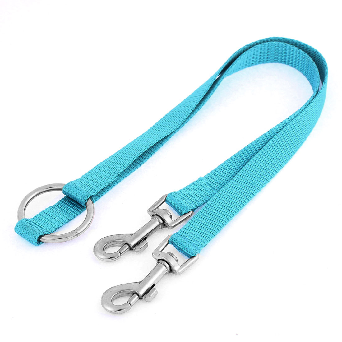 Pet Dog Puppy Training Walk 80cm Long Dual Head Nylon Leash Rope Blue