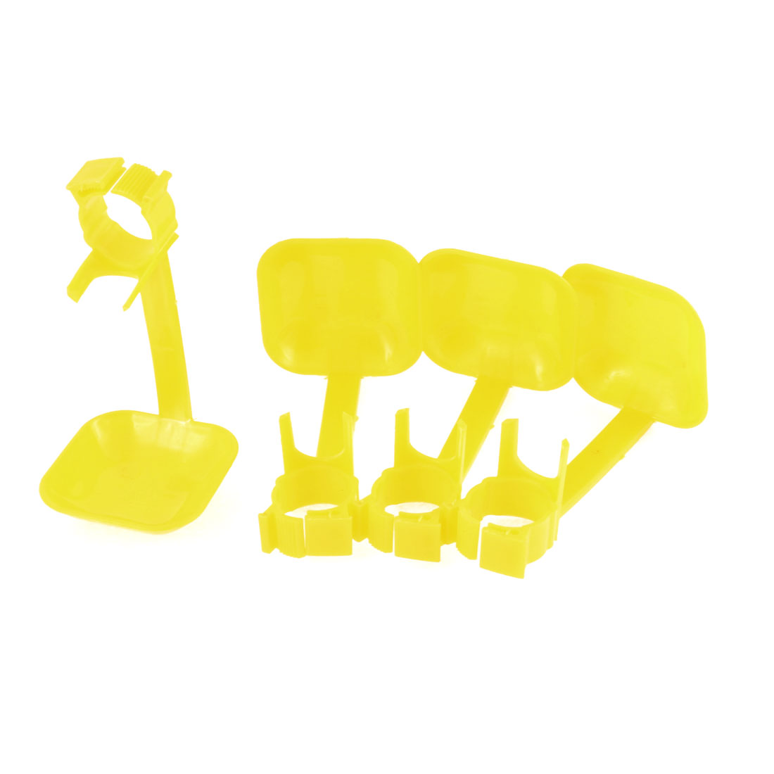 4 Pcs Yellow Plastic Fount Waterer Feeder Hanging Poultry Drip Cup