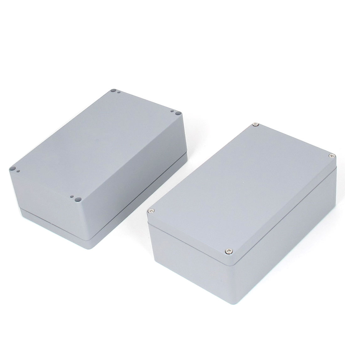 200mmx120mmx75mm Plastic Sealed Electric Junction Box Case Gray 2pcs