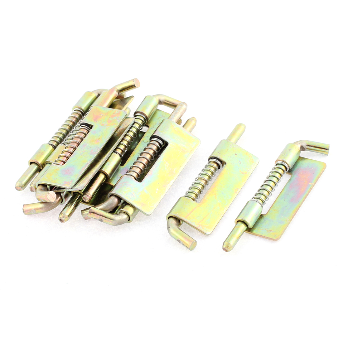 10 Pcs 75mm Long Fixed Type Locked Spring Loaded Barrel Bolt Latch