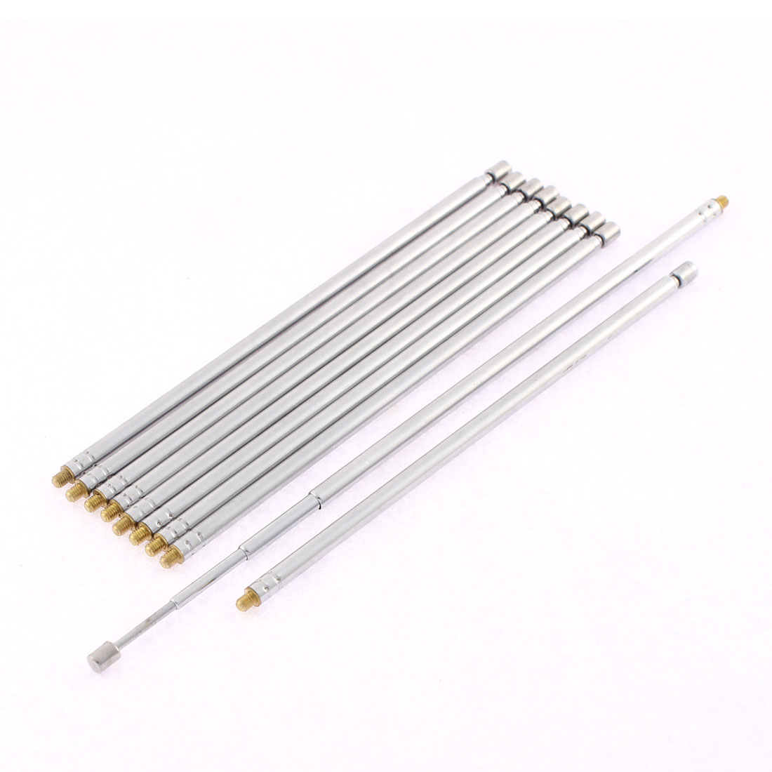 FM AM TV Radio 4 Sections Telescopic Antenna Aerial 43cm Length 10 Pcs