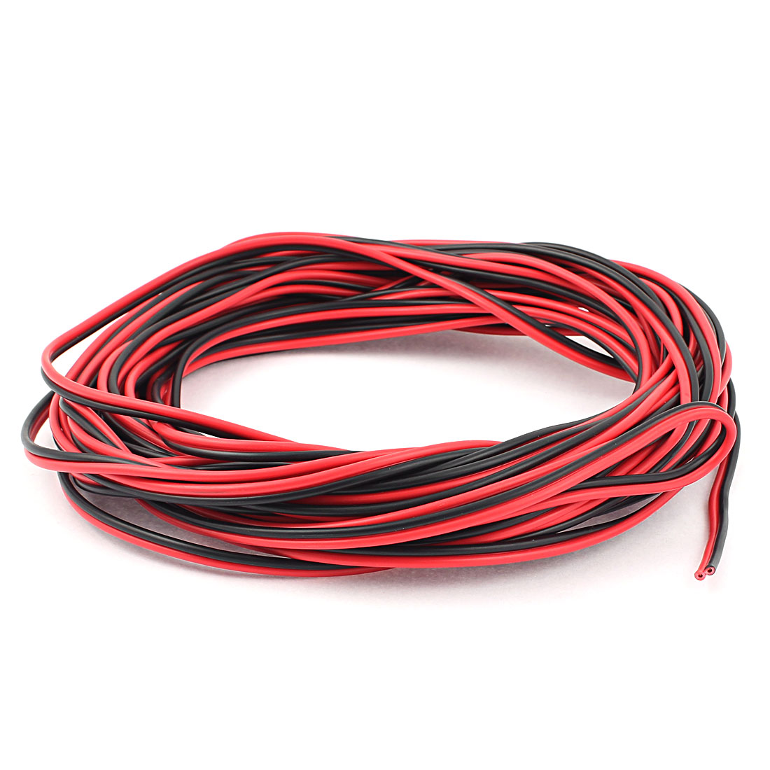 AC 220V 49Ft Electronic Twisted Hookup Wire Red Black