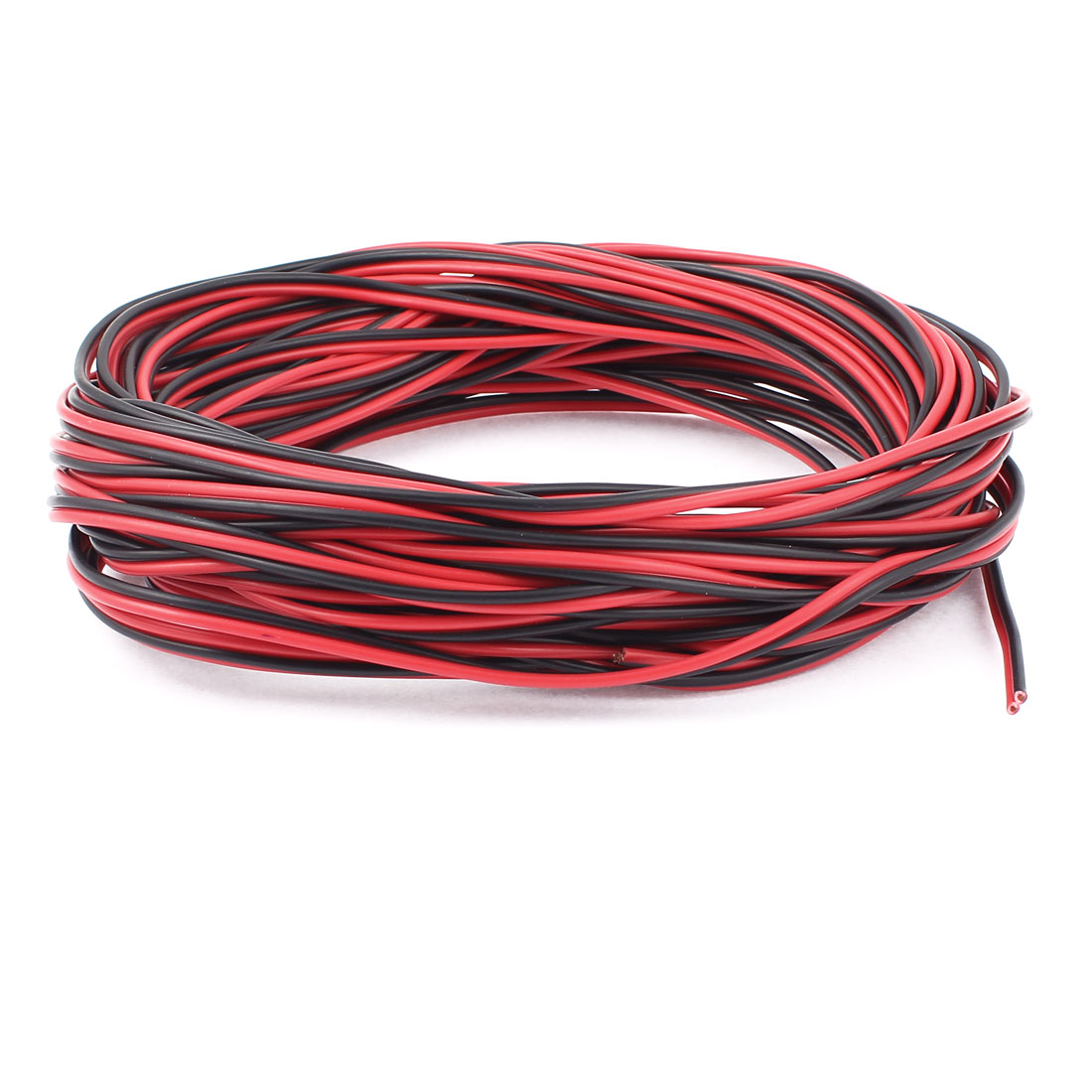 AC 220V 20M 1mm2 PVC Stranded Electronic Wire Cable Black Red