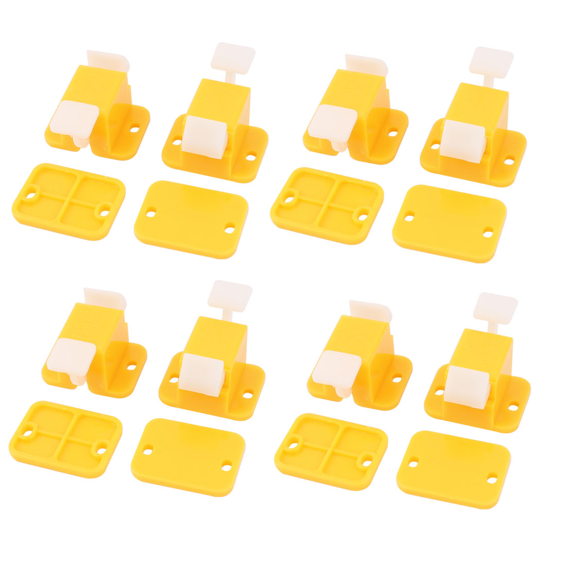 Plastic PCB Board DIY Prototype Test Fixture Jig Latches Yellow White 8pcs