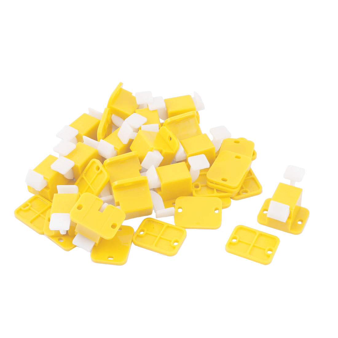 PCB ICT Prototype Test Fixture Jig Edge Latches Yellow White 16pcs