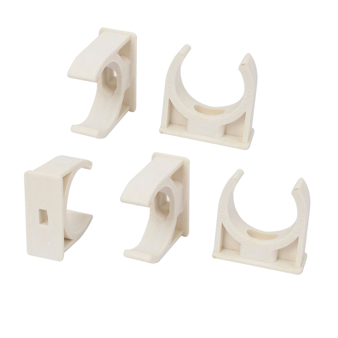 5pcs 31mm Diameter White Water Supply Pipe Tube Hose Clamps Clips Fittings