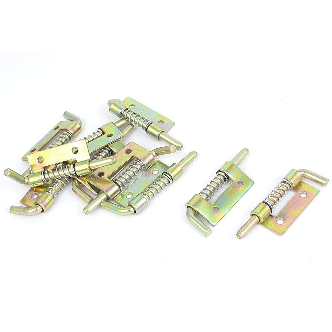 10pcs Bronze Tone Metal Locked Fixed Type Right-handed Spring Barrel Bolt Latch for Gate Door