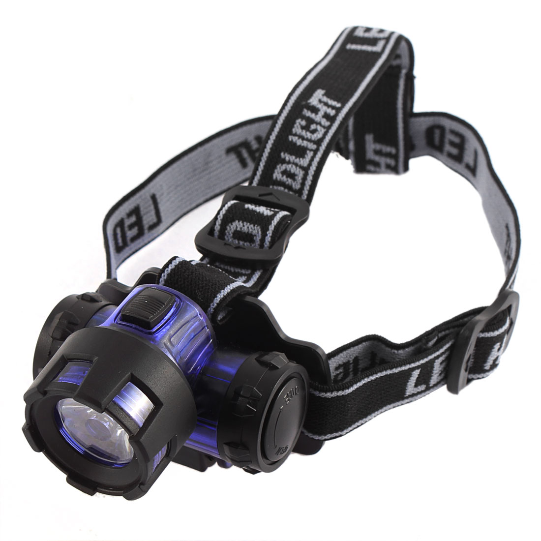 Adjustable Elastic Headstrap Zoom Focus LED Camping Headlight White 3W