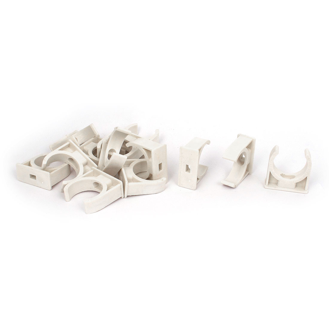 13pcs 30mm Diameter White Water Supply Pipe Tube Hose Clamps Snap in Clips Fittings