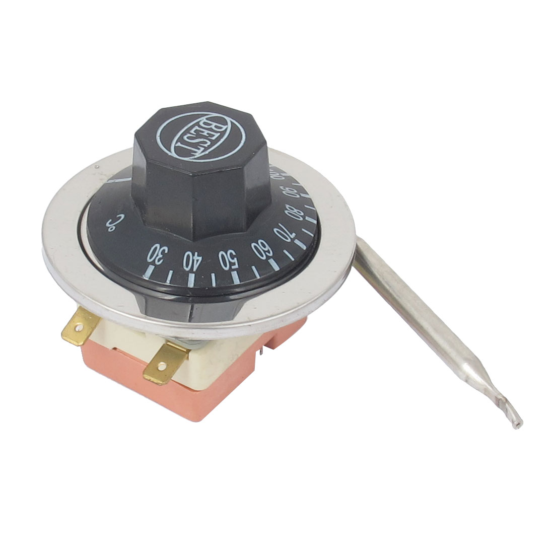 AC 250V 16A 30-110 Degree Celsius Dial Plastic Rotary Knob Adjustable Temperature Control Switch Thermostat