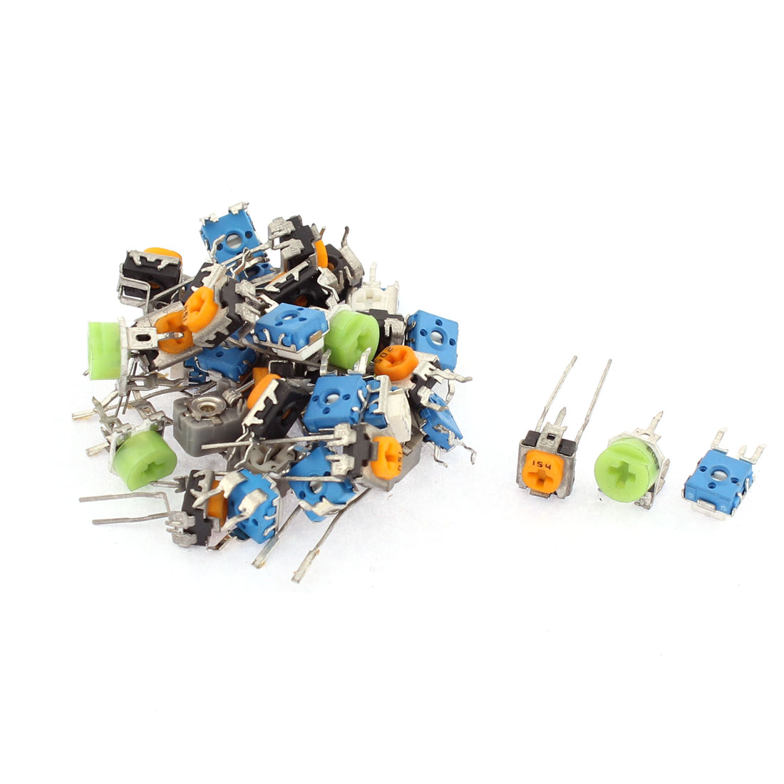 39Pcs 100-2M Ohm Resistance 3 Terminals Trimmer Potentiometer Variable Resistors Set