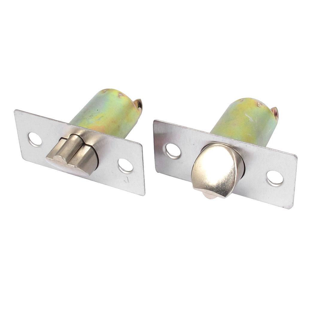 Home Office Security Metal Cylinder Shape Spring Loaded Door Lock Bolt 2pcs