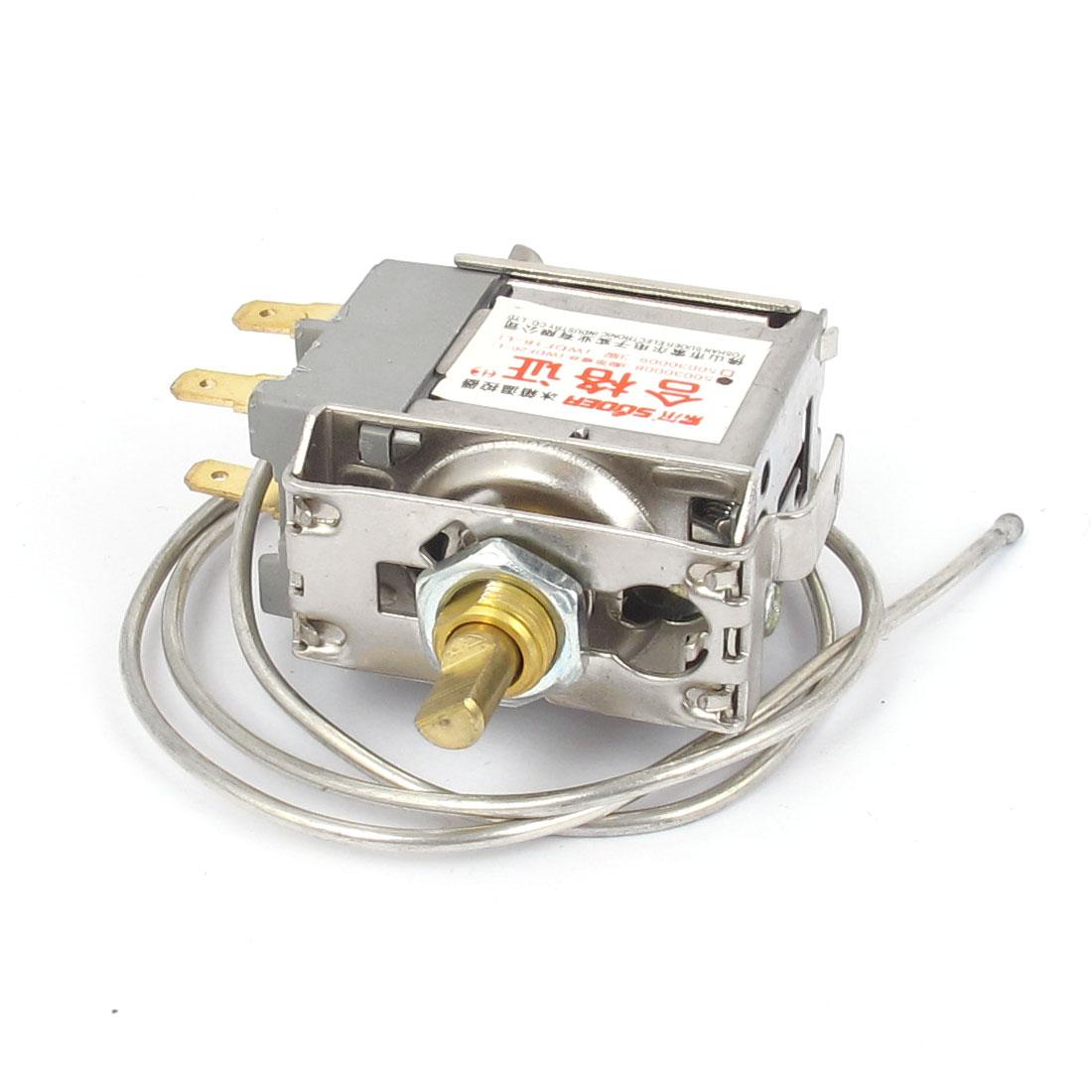 WDF20-L AC 250V 5(4)A 3 Terminals Temperature Controller Refrigerator Thermostat w Cord