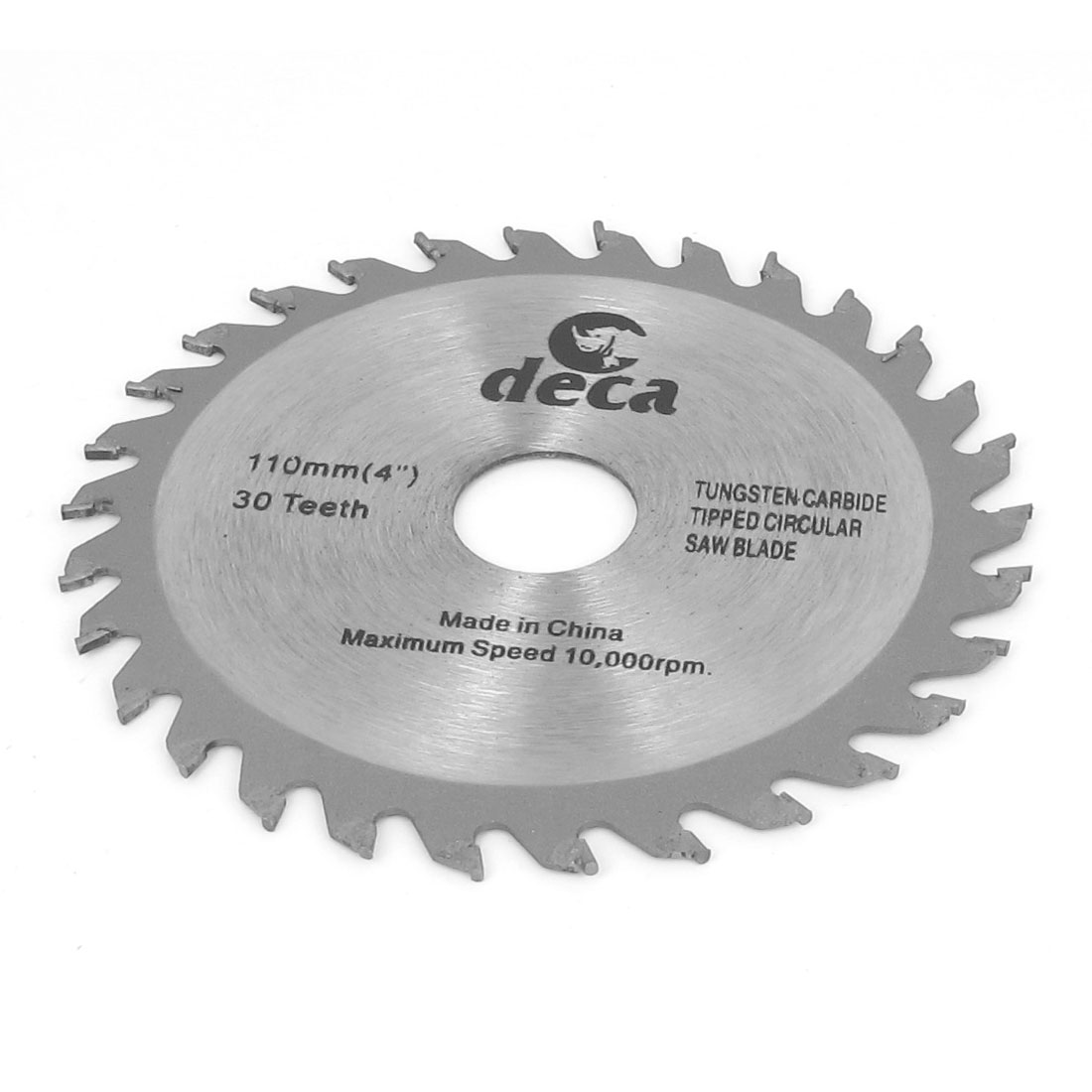 Wood Cutting 110mm Diameter 10000RPM Speed Round Metal 30T Saw Cutter Hand Tool Silver Gray
