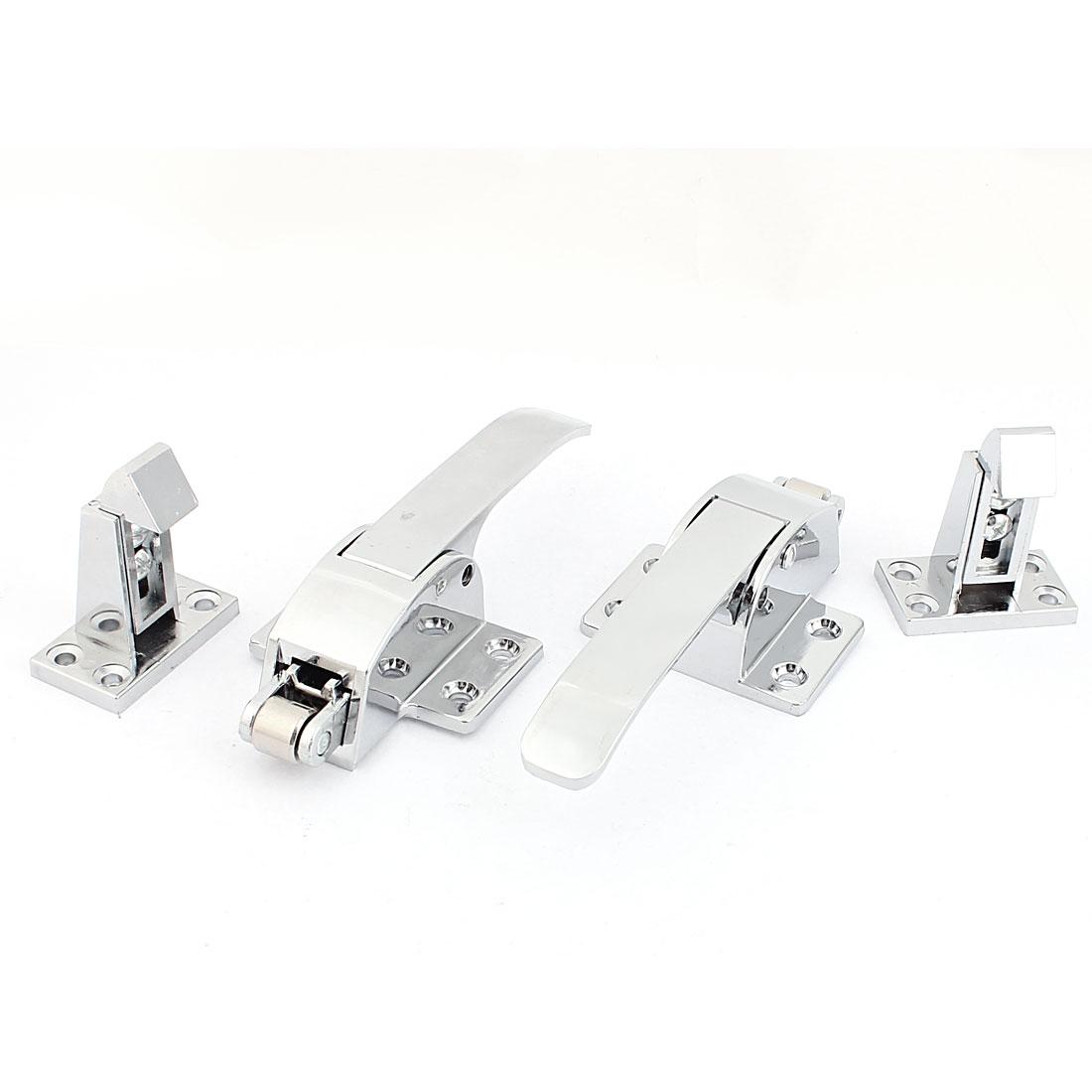 2 Pcs Adjustable Latch Spring Loaded Walk In Freezer Cooler Door Handle Grip Hardware