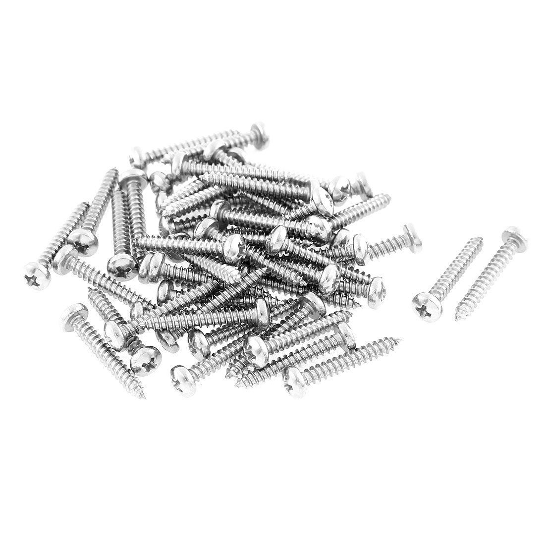50 Pcs 2.9mmx19mm Stainless Steel Phillips Round Head Sheet Self Tapping Screws