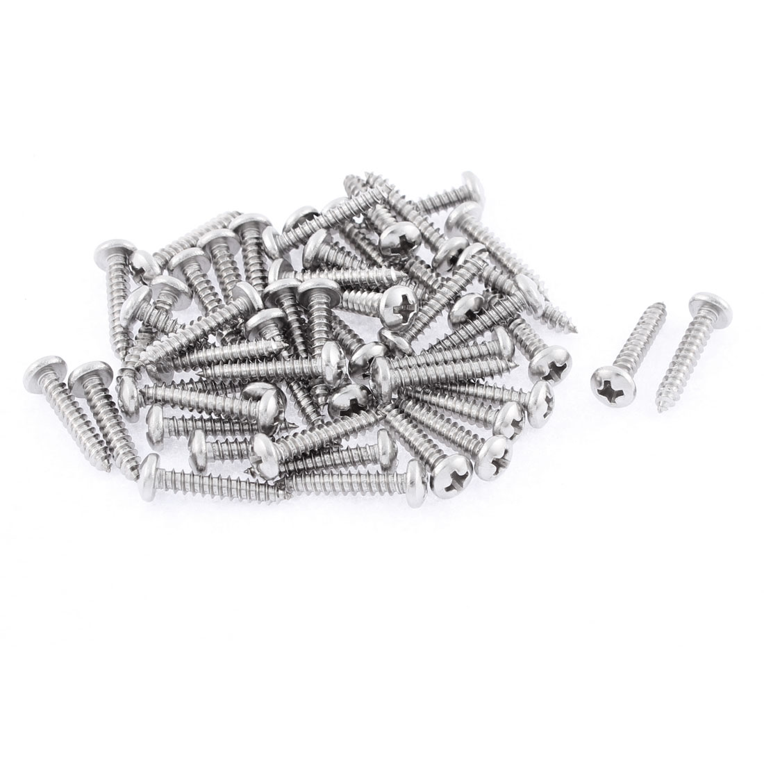 50 Pcs 3.5mmx19mm Stainless Steel Phillips Round Head Sheet Self Tapping Screws