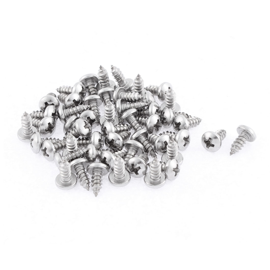 50 Pcs 3.9mmx9.5mm Stainless Steel Phillips Round Head Sheet Self Tapping Screws