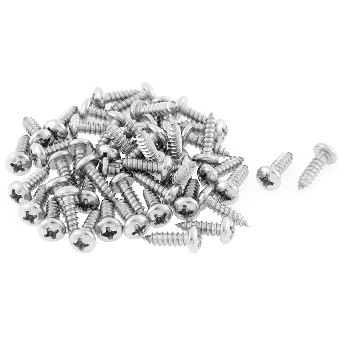 50 Pcs 3.9mmx13mm Stainless Steel Phillips Round Head Sheet Self Tapping Screws