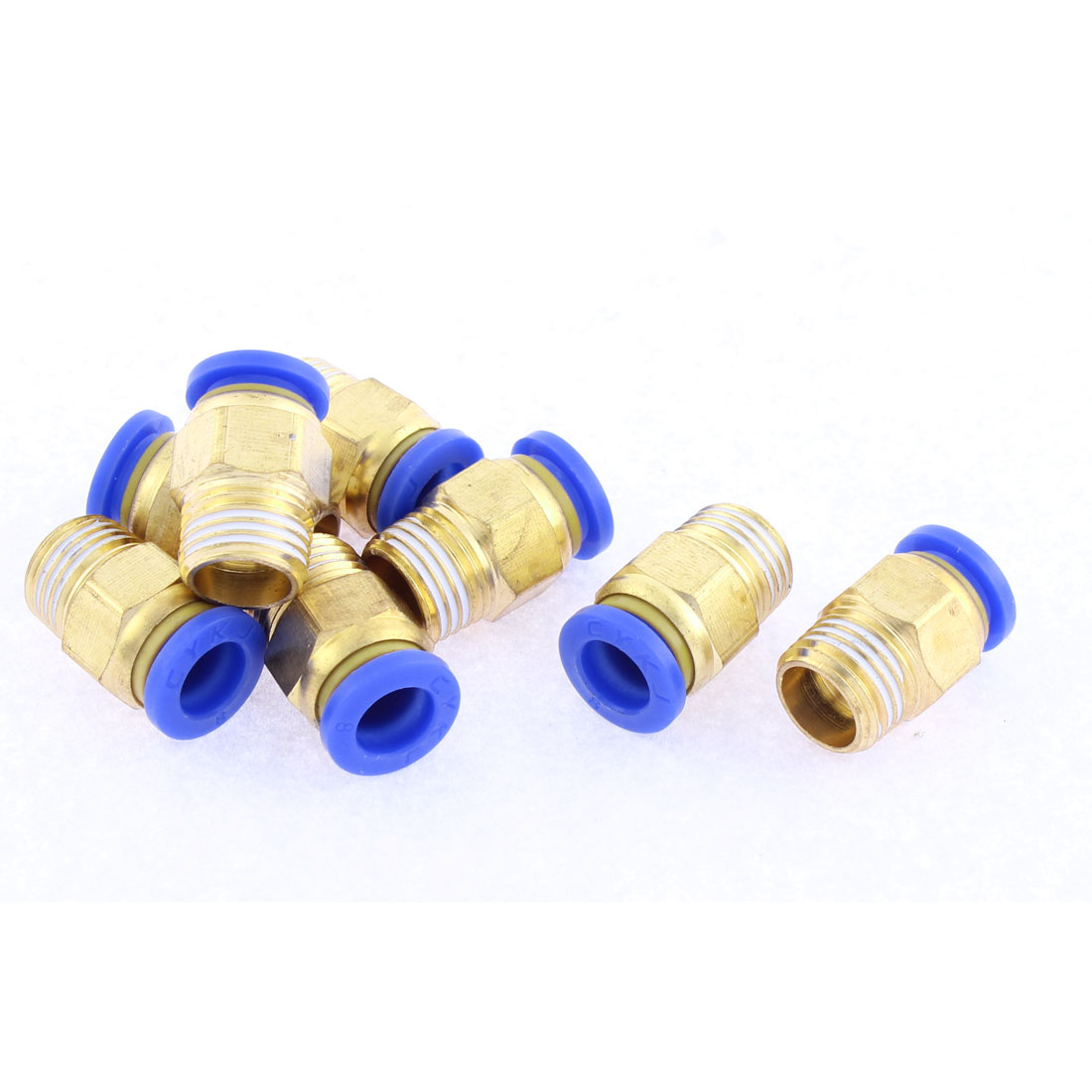8 Pcs 8mm Tube to 1/4BSP Thread Push in Quick Connect Coupler Fittings PC8-02