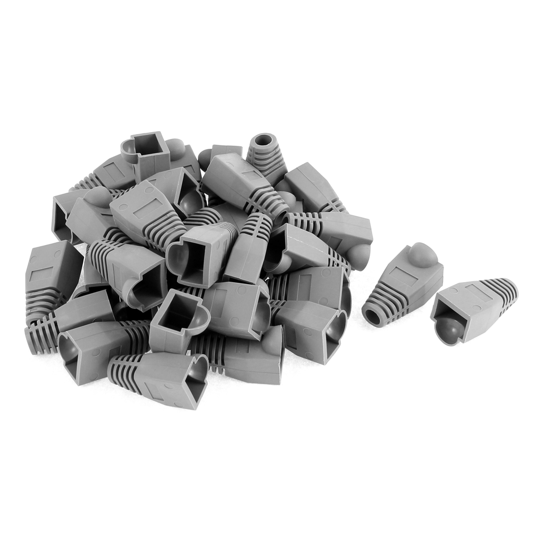 36 Pcs Ethernet Network Cable RJ45 Connector Strain Relief Boots Cover Cap Gray