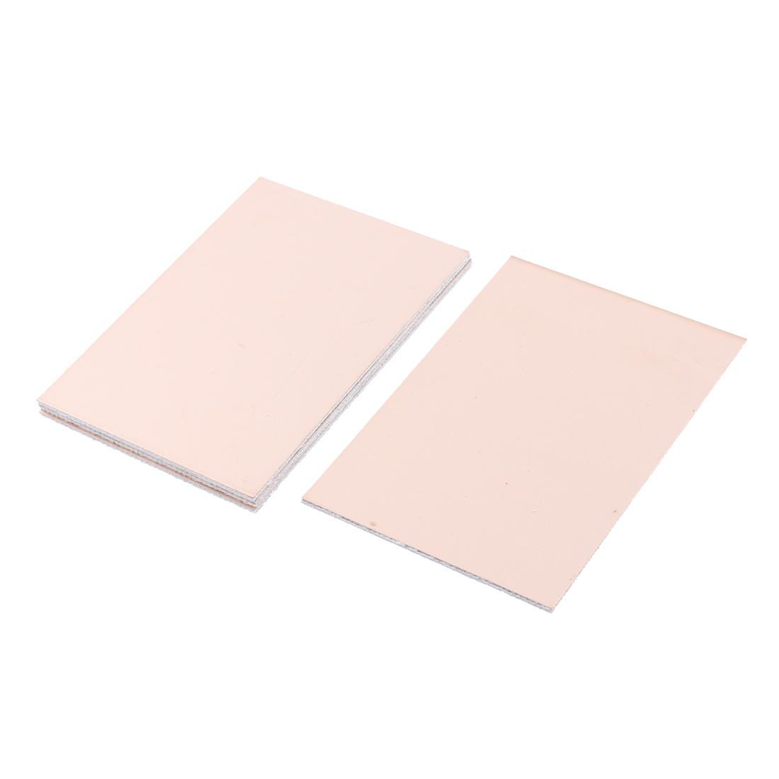 5 Pcs FR-4 Copper Clad Single Side PCB Laminate Board 100mmx70mm 1.6mm