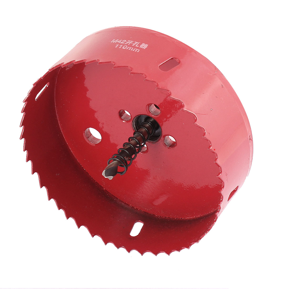 110mm x 10mm 46 Tooth Drill Bit BI Metal Hole Saw Cutter Red for Aluminium Alloy